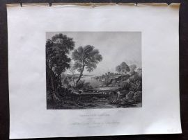 Holmes C1840 Antique Print. Chepstow Castle, Monmouthshire